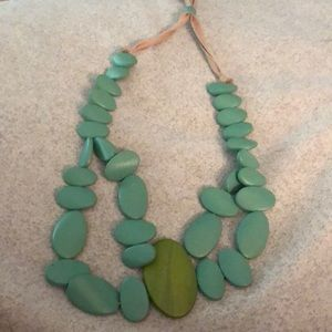 Jewelry - Wooden blue necklace